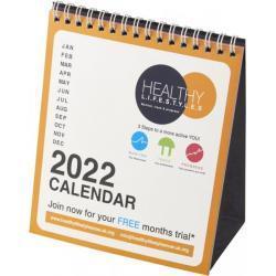 Calendario mensual de escritorio Classic con tapa blanda
