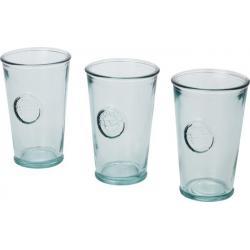 Juego de tres piezas de vidrio reciclado de 300 ml Copa