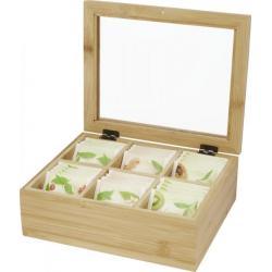 Caja de té de bambú Ocre