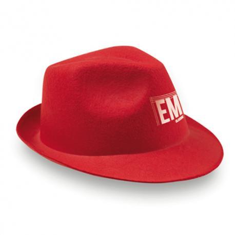 Sombrero de fieltro rojo Maston