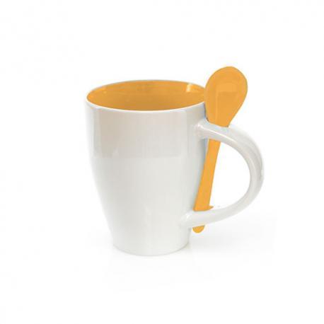 Taza con cuchara de cerámica de 350ml Cotes