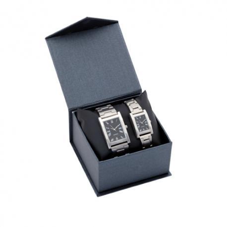 Set de relojes analógicos para hombre y mujer Belo