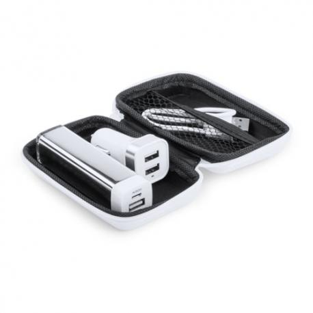 Set Power bank 2600 mAh blanco Nacorap