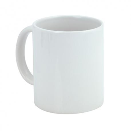 Taza de cerámica blanca para sublimar de 350ml Bornel