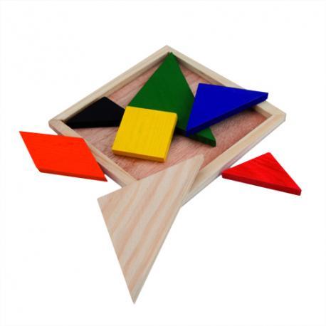 Puzzle Tangram de madera