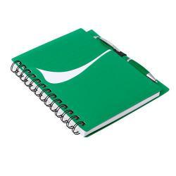Libreta de plástico y bolígrafo Dymas
