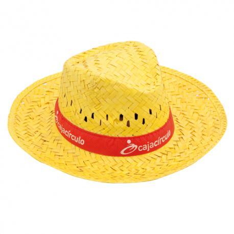 Sombrero de ala ancha de paja Splash