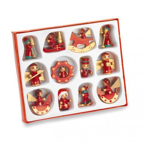 12 adornos navideños colgantes Laponia