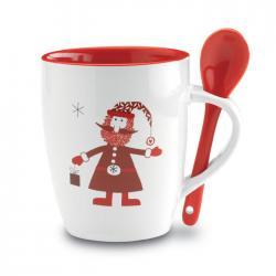 Taza con cuchara Claus