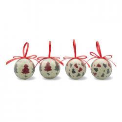 Set de 4 bolas navidad Quadrille