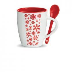Taza de cerámica con cuchara Merano