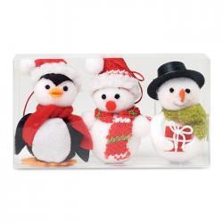 Set adornos en forma de muñeco Snowies