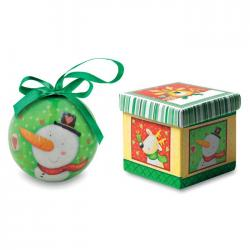 Bola navideña en caja Santy