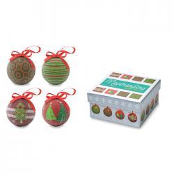 Set bolas navideñas Squary