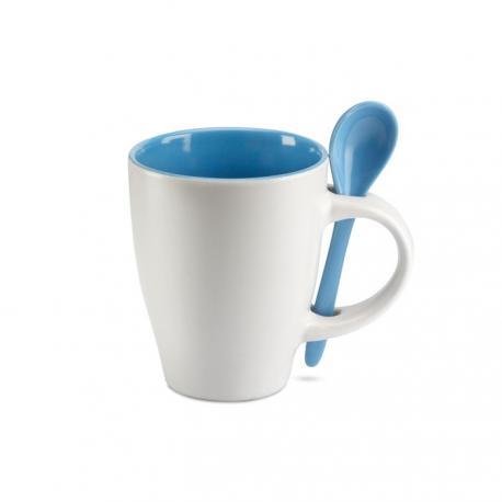 Taza cerámica con cuchara 250ml Dual