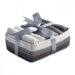 6 toallas pequeñas en cesta Coffret