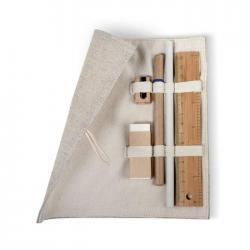 Set papeleria en bolsa algodón Ecoset