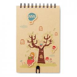 Cuaderno y 12 lápices de colores Maggy
