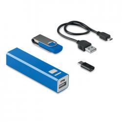 Set memoria 8gb con powerbank Usb&power