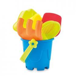 Cubo de con 6 juguetes Playa