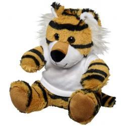 Tigre de peluche con camiseta