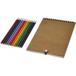 Set para colorear con libreta de espiral Claude
