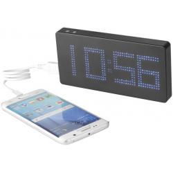 Batería externa con reloj y luz LED PB-8000