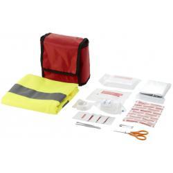 Kit de primeros auxilios de 18 piezas y chaleco reflectante profesional