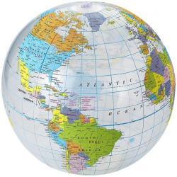 Pelota de playa transparente Globe