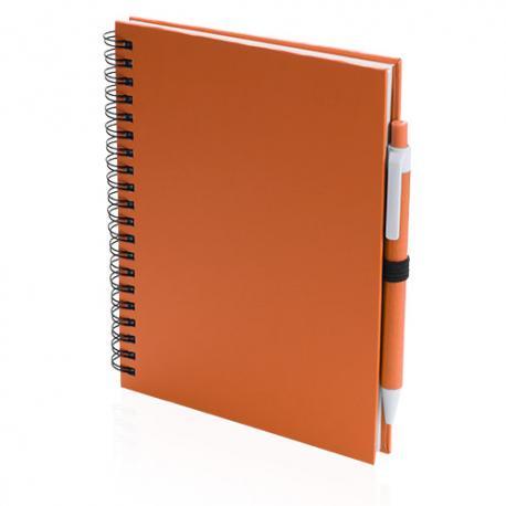 Libreta de anillas y bolígrafo reciclado Koguel