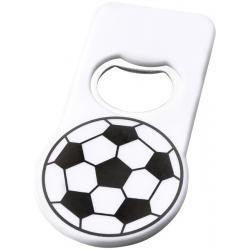 Abrebotellas con imán estampado con balón de fútbol