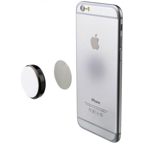 Soporte adhesivo y magnético para teléfonos