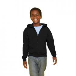 Sudadera niños 255 270 g m2 Kids full zip hooded sw 18600b
