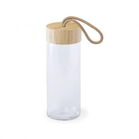 Tarro de cristal con tapón de bambú 420ml Burdis
