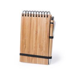 Libreta ecológica con bolígrafo bambú Tumiz