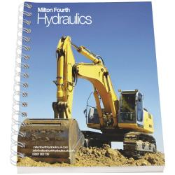 Cuaderno a6 con cubierta sintética de Desk-Mate®