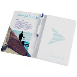 Paquete de conferencia con libreta a4 y bolígrafo de essential