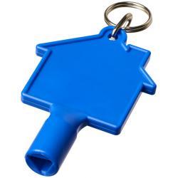 Llave para contador con forma de casa con llavero maximilian