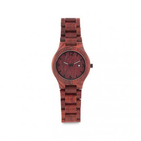 Reloj de pulsera de madera con agujas San gallen