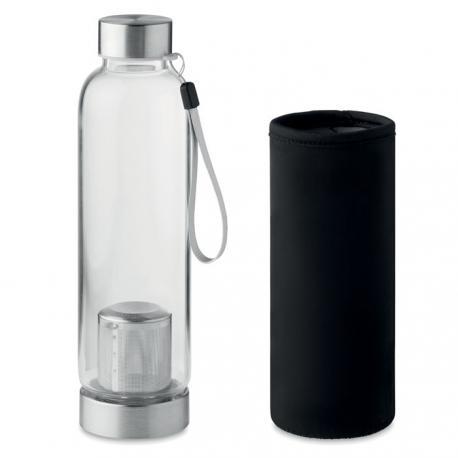 Botella de vidrio 500ml con infusor Utah tea
