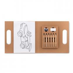 Set de 6 lápices para colorear Folder2 go