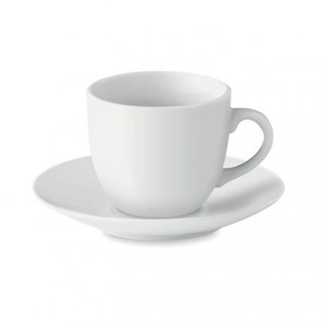 Taza 80ml y plato cerámica café Espresso
