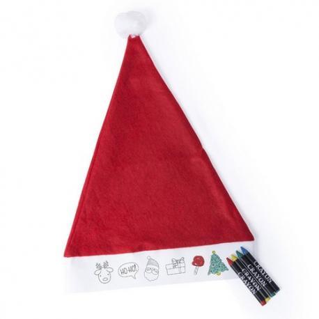 Gorro de Papá Noel para niños para colorear Rupler