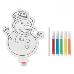 Globo colorear muñeco de nieve Snowball