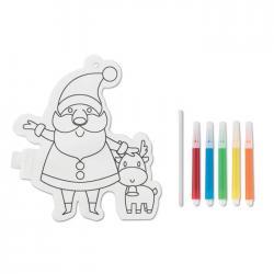 Globo para colorear papá noel Santaball