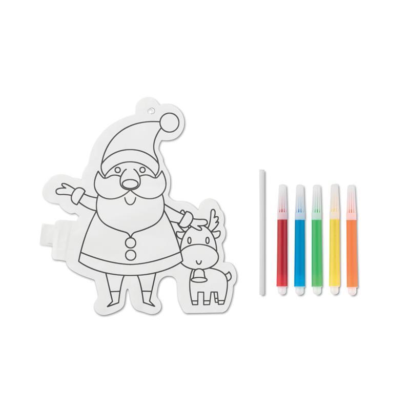 Globo Para Colorear Papa Noel Santaball