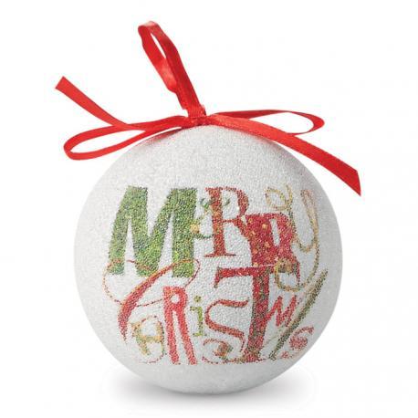 Bola navideña en caja Blanca