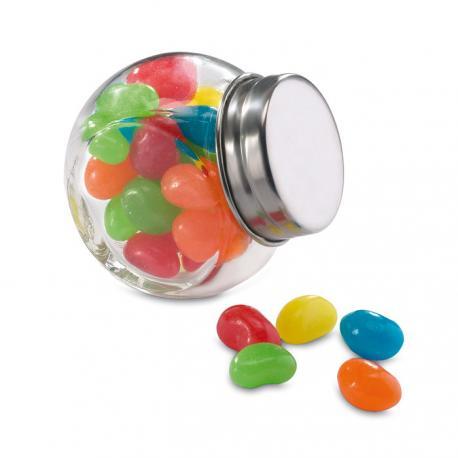 Bote de cristal con caramelos Beandy