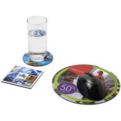 Combo 4 de alfombrilla para ratón y juego de posavasos Q-Mat®
