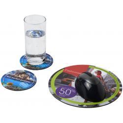 Combo 5 de alfombrilla para ratón y juego de posavasos Q-Mat®